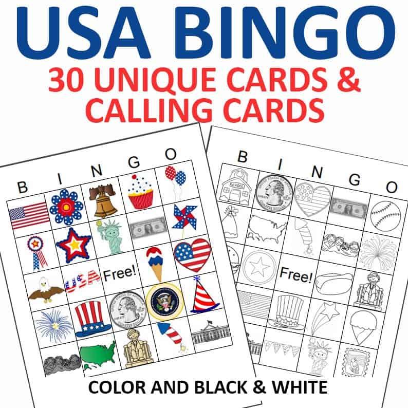 USA Bingo Printable by Crafting Jeannie