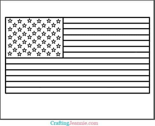 US Flag Coloring Page by Crafting Jeannie