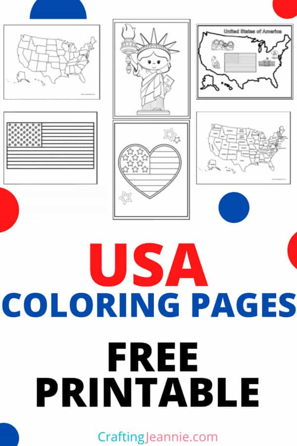 US Coloring Pages for Pinterest