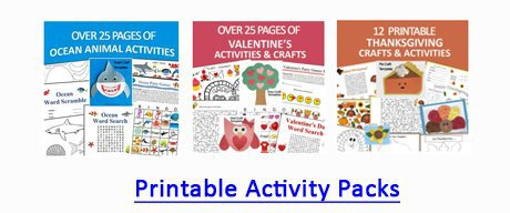 Printable activity Packs for kids by Crafting Jeannie