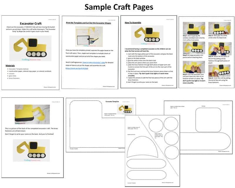 Sample Pages for A Year of Crafts