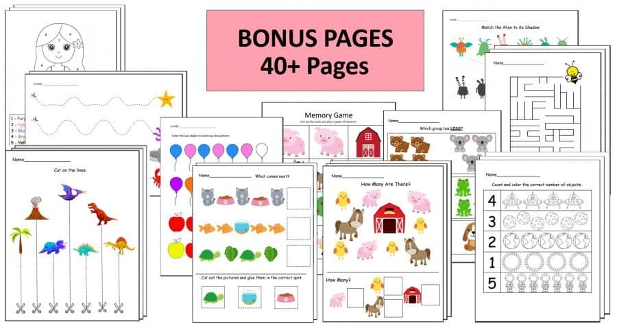 Preschool Worksheets by CraftingJeannie