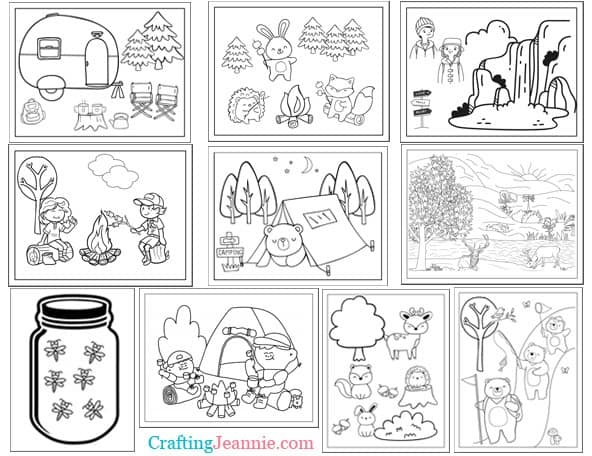 Camping Coloring Pages by Crafting Jeannie