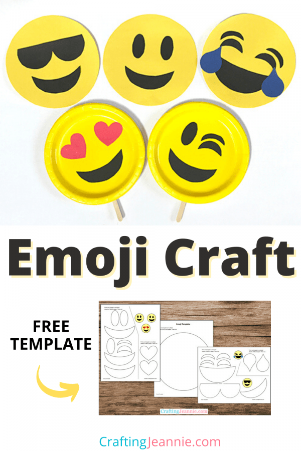 Emoji Craft Pin by Crafting Jeannie