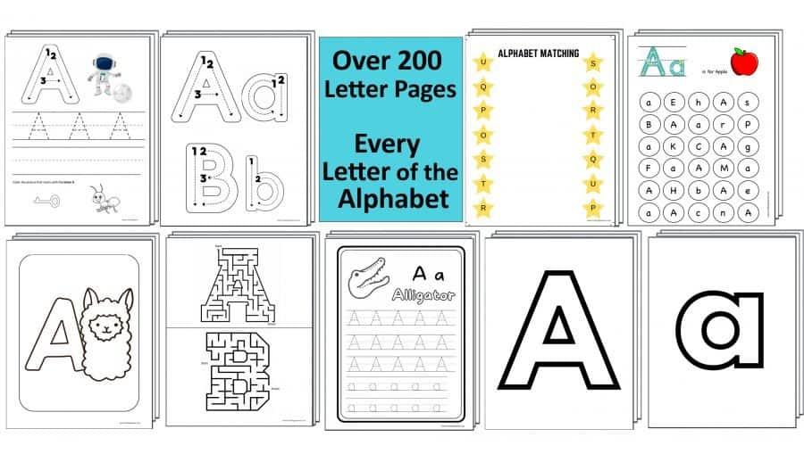 Preschool Letter Worksheets by Crafting Jeannie