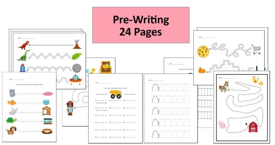 Preschool Pre writing worksheets by Crafting Jeannie