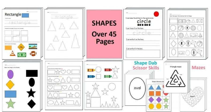 Preschool Shapes Worksheets by Crafting Jeannie