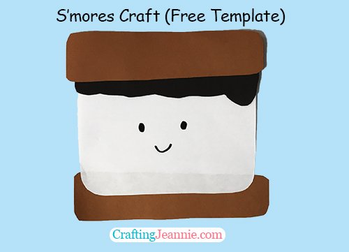 S'mores Craft with Free Template by Crafting Jeannie