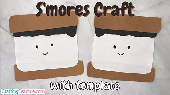 smores craft with template by Crafting Jeannie