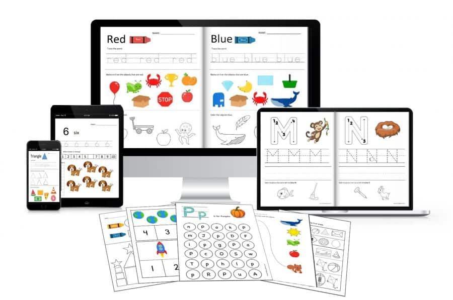 Preschool worksheets mega bundle by Crafting Jeannie