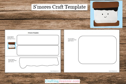 S'mores craft template by Crafting Jeannie
