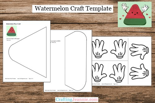 Cute Watermelon Craft Template by Crafting Jeannie