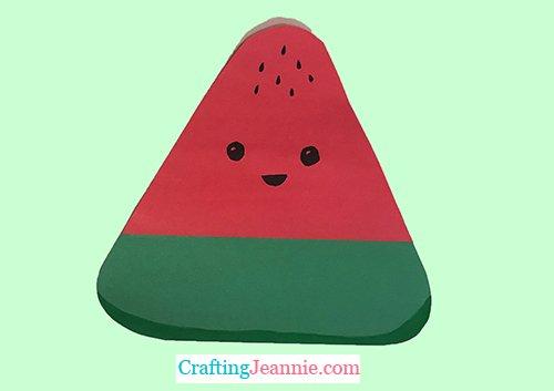 preschool watermelon craft by Crafting Jeannie