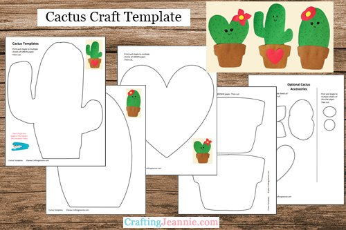 cactus craft template by Crafting Jeannie