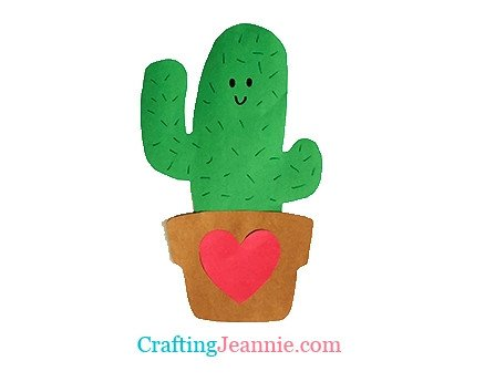 Cactus craft with heart by Crafting Jeannie