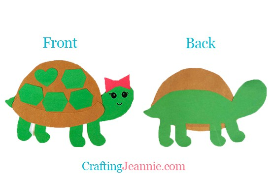 preschool turtle craft by Crafting Jeannie