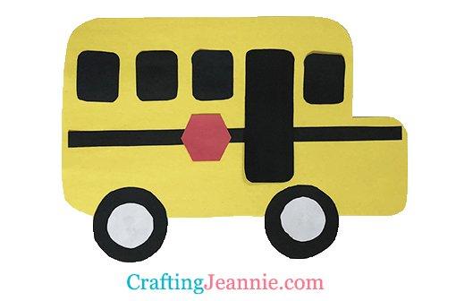 School Bus Craft by Crafting Jeannie
