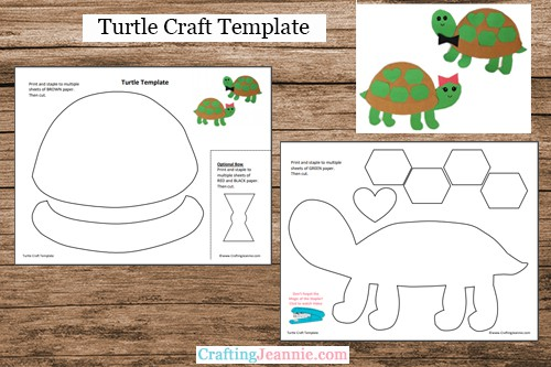 Turtle Craft Template by Crafting Jeannie