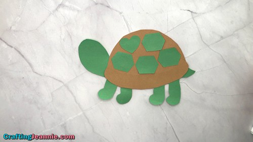 turtle craft with heart