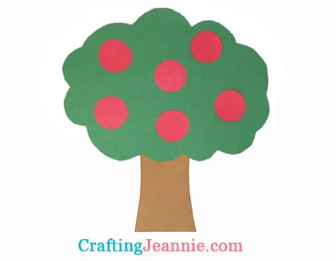 apple tree craft by Crafting Jeannie