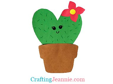 heart cactus craft by Crafting Jeannie