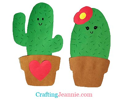 preschool cactus craft with template by crafting Jeannie