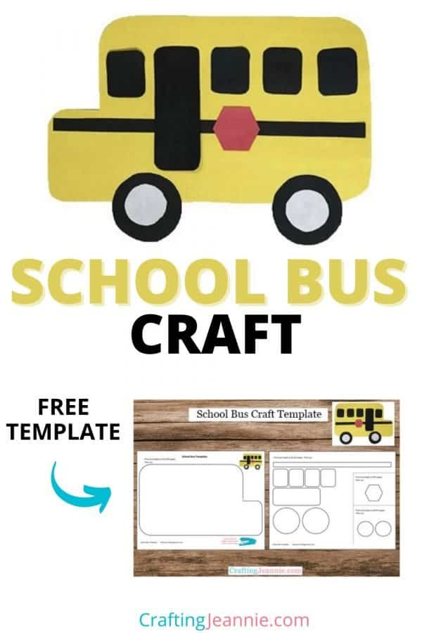 school bus craft pin by crafting Jeannie