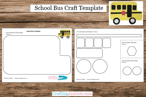 School Bus Craft Template by Crafting Jeannie