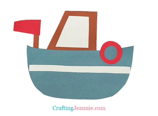 boat craft by Crafting Jeannie