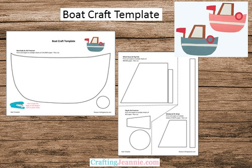 preschool boat craft template