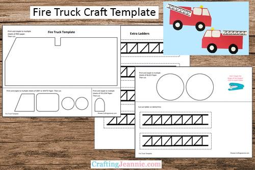 fire truck preschool craft template