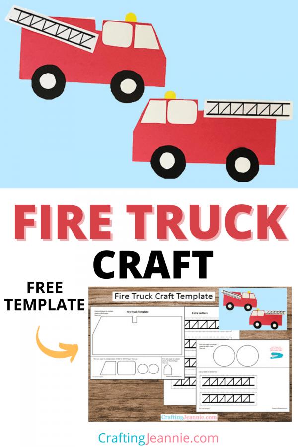 Fire Truck Craft for Pinterest