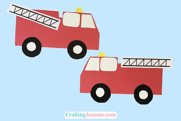 Fire Truck Craft with Template by Crafting Jeannie