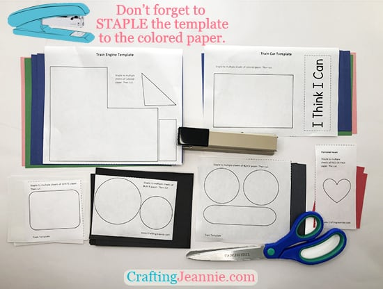 train craft printable by Crafting Jeannie