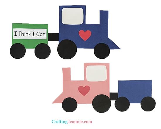 paper train crafts by Crafting Jeannie